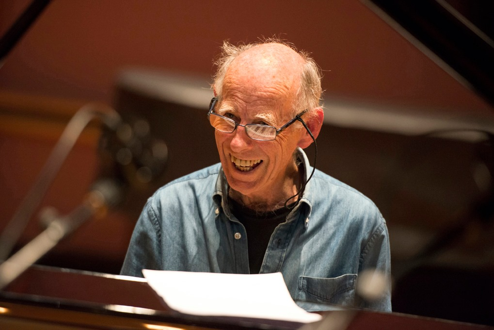 mike nock at piano laughing