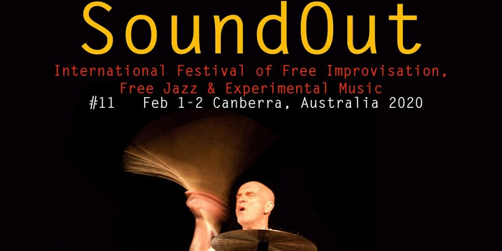 poster for Soundout 2020 showing image of drummer and dates - 1& 2 Feb 2020
